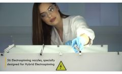 Inovenso`s Pilot Electrospinning System PE 550. Industrial Nanofiber Production - Video