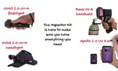 Inspector Kit with 3 UV-A lamps and 1 UV-A meter - Video