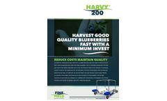 Harvy - Model 200 - Blueberry Harvester - Brochure