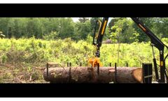 Forest crane Country 470 and trailer T30 | www.country.ee - Video