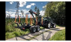 BMF 11T1Pro forestry trailer and BMF 720 crane 2020 FIN - Video