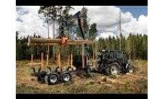 BMF 12T2Pro forestry trailer and BMF 750 crane 2020 FIN - Video