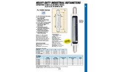 Omega - Model FL-1600 - Heavy Duty Industrial Variable Area Flow Meters - Brochure