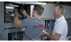 Washing and spinning machine for vegetables I Siemens supports digital - Video
