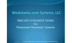 Precast Concrete Tanks for Wastewater Treatment Systems - Brochure