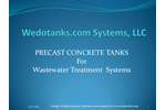 Precast Concrete Tanks for Wastewater Treatment Systems - Presentations