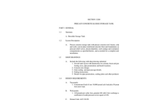 Precast Concrete Sludge Storage Tank Specifications - Brochure