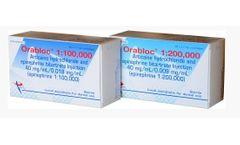 Orabloc - Model 40mg/mL - Articaine Hydrochloride Injection