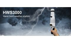 ZOGLAB - Model HWS3000 - Handheld Portable Ultrasonic weather station with LED display