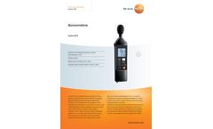 Testo - Model 815 - Portable Sonometer Brochure