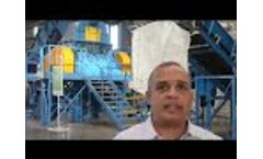 Complete OTR mining tyre recycling plant 2014 - Video