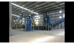 Primera planta de reciclaje de llantas OTR - Video