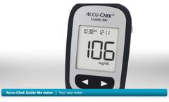 Setting up and using the Accu-Chek Guide Me meter (with Accu-Chek Softclix lancing device) - Video