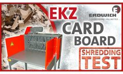 Shredding Test | Cardboard - EKZ - Video