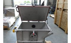 M400/1-400 in stainless steel for shredding hospital-specific waste