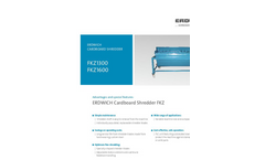 Erdwich FKZ1300 - FKZ1600 Cardboard Shredder Datasheet