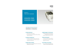 Erdwich H500/R2-1500 - H500/R2-2000 Two-Shaft-Shredder Data Sheets
