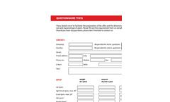 Questionnaire Tyres - Brochure