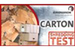 SHREDDING TEST | CARTON - Cardboard Shredder EKZ