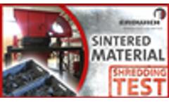 SHREDDING TEST | SINTERED MATERIAL | Two-Shaft Shredder H480 | Erdwich Zerkleinerungssysteme GmbH