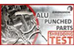 SHREDDING TEST | ALUMINIUM PUNCHED PARTS - M600 | Erdwich Zerkleinerungssysteme GmbH