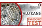 SHREDDING TEST | ALUMINIUM CANS - M700 | Erdwich Zerkleinerungssysteme GmbH