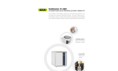 DuMaster - Model D-480 - Unattended and Flexible Protein Determination Brochure