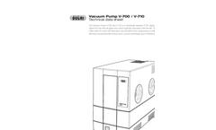 BUCHI - Model V-700 / V-710 - Vacuum Pump Technical Datasheet