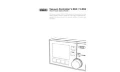 BUCHI - Model V-850/V-855 - Vacuum Controller Technical Datasheet