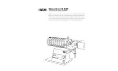 BUCHI - Model B-585 - Glass Laboratory Oven Drying - Technical Datasheet