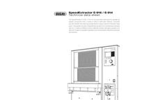 SpeedExtractor - Model E-914/E-916 - Pressurized Solvent Extraction Laboratory Instrument - Technical Datasheet