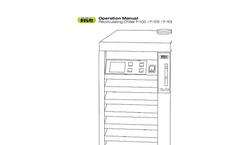 BUCHI - Model F-105 / F-108 / F-114 - Recirculating Chiller Operation Manual