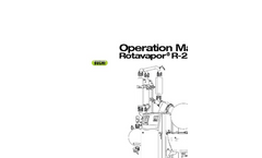 Rotavapor - Model R-250 EX - Industrial Evaporation Operation Manual