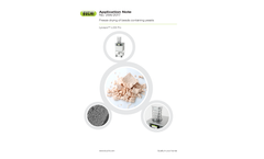 Application Note: Freeze drying of beads containing yeasts