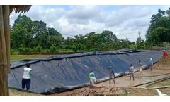 1.5mm HDPE Geomembrane Reservoir In Indonesia