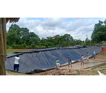 Project - 1.5mm HDPE Geomembrane Reservoir in Indonesia