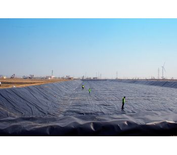 Project - 0.75mm HDPE Geomembrane Sheet For Shrimp Pond Liner Project In China