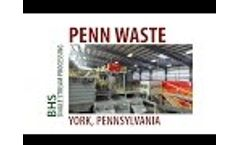 Single Stream Recycling System Overview: 35-tph Penn Waste MRF Video