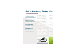 Sustainability Consulting Services Brochure