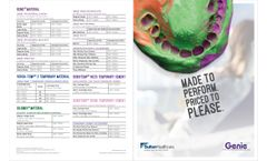SultanHealthcare Genie - Model VPS - Impression Materials - Brochure