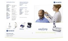 Maico - Model easyTymp Line - Handheld Middle Ear Analyzer for Fast Tympanometry - Brochure