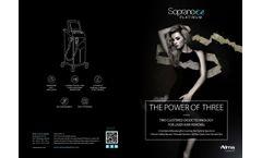 Soprano ICE Platinum - Platinum Edition Combines 3 Laser - Brochure