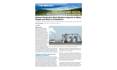 Ethanol Production Plant Monitors Impacts to Water  Supply and Stays in Compliance - Application Note