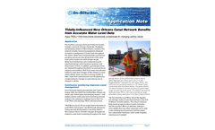 Tidally-lnfluenced New Orleans Canal Network Benefits front Accurate Water Level Data - Application Note