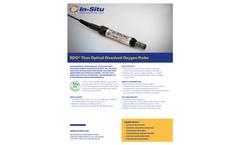 RDO Titan Optical Dissolved Oxygen Probe - Specifications