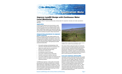 Improve Landfill Design with Continuous Water Level Monitoring - Application Note