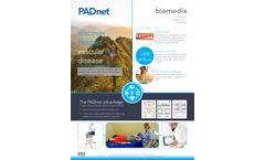 Biomedix - Model PADnet - Front-Line Diagnostics For Peripheral Vascular Disease (PVD) - Brochure