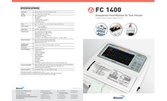 Bionet - Model FC1400 - Antepartum Touch Screen Fetal Monitor For Twin Fetuses - Brochure
