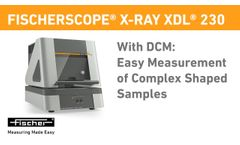 With DCM: Easy Measurement of Complex Shaped Samples | X-RAY XDL 230 | Fischer - Video