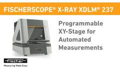 Programmable, Motor-Driven XY-Stage for Automated Measurements | X-RAY XDLM 237 | Fischer - Video